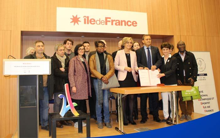 Signature d'un protocole de diffusion pour les évènements sportifs entre la Région Ile-de-France, le CROSIF et les radios locales